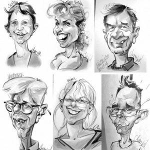 Caricatures-lavis