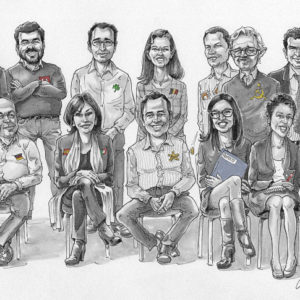 groupe_caricature_n&b