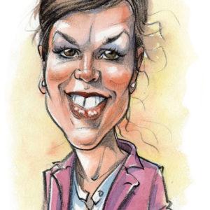 Caricature-couleur-Femme-2