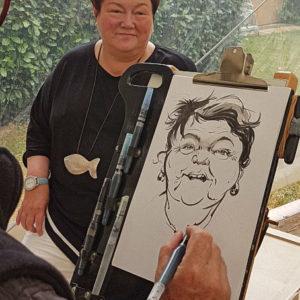 Caricature Femme début
