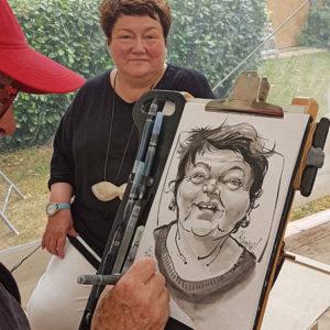 Caricature Femme fin