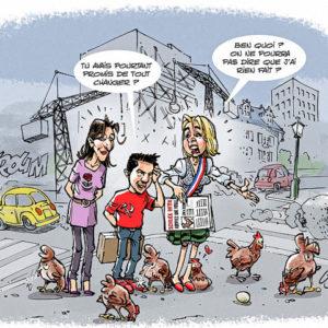 Dessin poules Schiltigheim