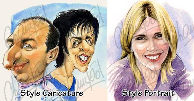 Style caricature ou portrait, Champol