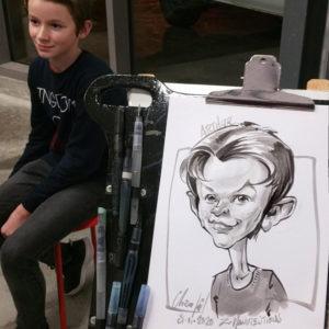 Caricature d'un garçon