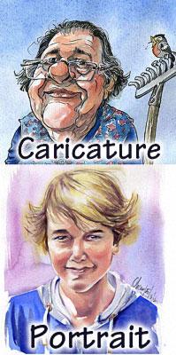Exemple caricature et portrait
