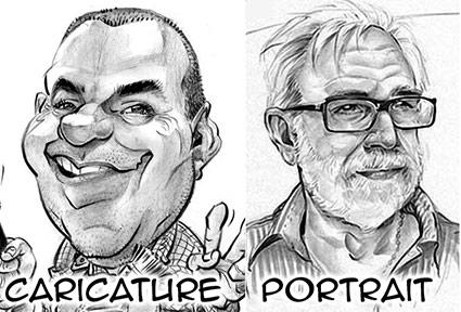 Caricature ou portrait en N&B par Champol