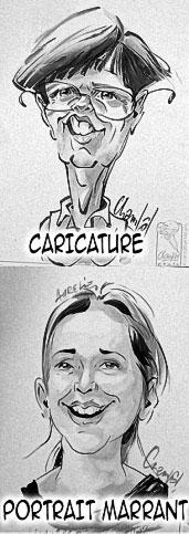 Exemple caricature et portrait marrant