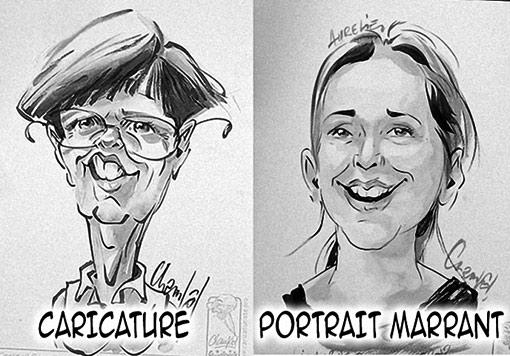 Style caricature ou portrait marrant