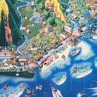 Carte de Tahiti, détail