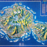 Carte de Tahiti humoristique