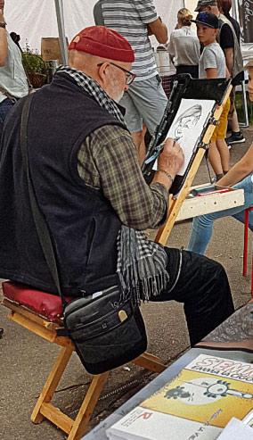 Chevalet de caricaturiste