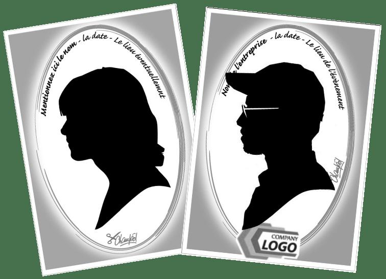 Personnalisation des papiers Silhouettes