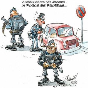 La Police se protège après les attentats