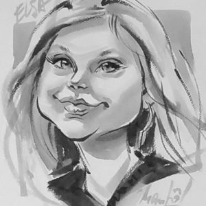Caricature fille W4