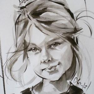 Caricature fille W7