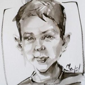 Caricature garçon W1