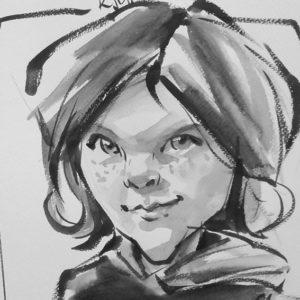 Caricature garçon W2