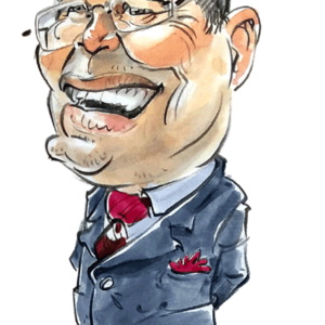 Caricature homme couleurs Champol 1