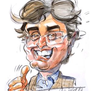 Caricature homme couleurs Champol 3
