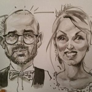Portraits de mariés