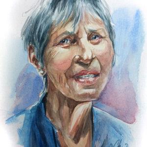 Portrait aquarelle dame