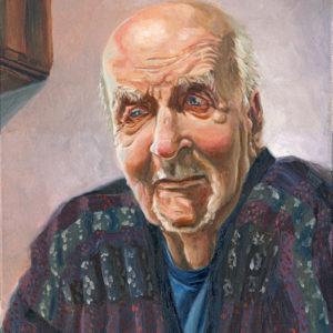 Portrait à l'huile vieil homme